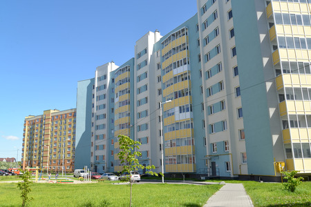 inhabited: KALININGRAD, RUSSIA - MAY 28, 2015: The new inhabited residential district on the street of Gorky Editorial