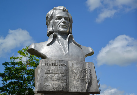 gusev: Bust of the Lithuanian poet Kristionas Donelaytis in Gusev Editorial