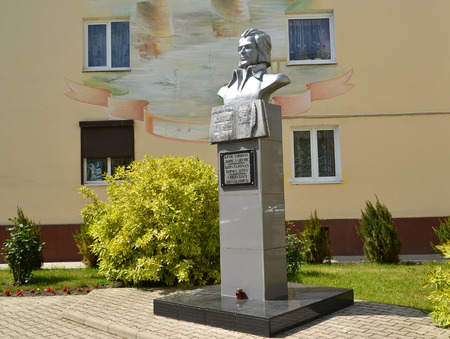 gusev: Monument to the Lithuanian poet Kristionas Donelaytis