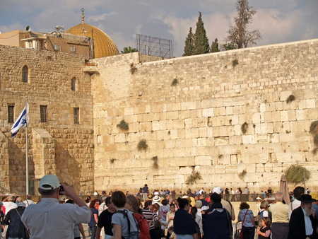 jewish home: JERUSALEM, ISRAEL - 09 OCTOBER, 2012: View of the Wailing Wall