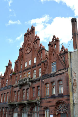 gusev: The building of the former National bank (1910-1911) in the city Gusev, the Kaliningrad region