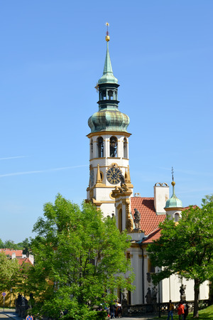 lord's: PRAGUE, CZECH REPUBLIC - MAY 25, 2014: Church of Lords Christmas, Prague Loreta Editorial