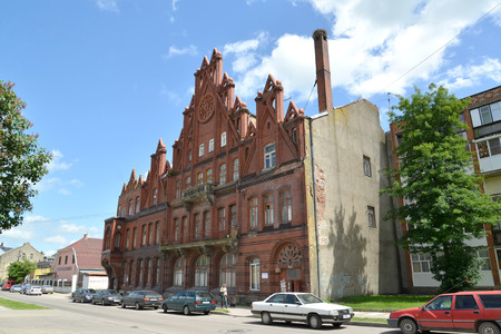 gusev: GUSEV, RUSSIA - JUNE 04, 2015: Building of the former National bank (1910-1911) Editorial