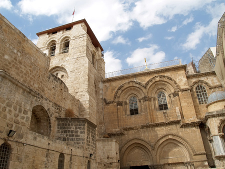 lord's: JERUSALEM, ISRAEL - OCTOBER 09, 2012: Facade of Church of the Resurrection (temple of the Lords Coffin)