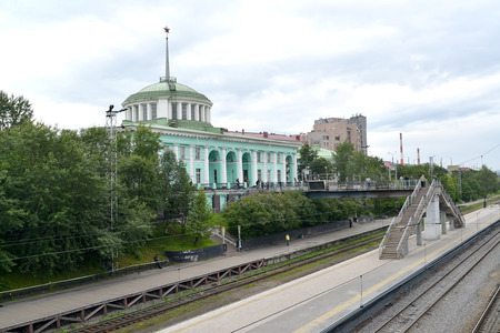 polar station: MURMANSK, RUSSIA - JULY 17, 2015: A view of the Murmansk railway station from platforms Editorial