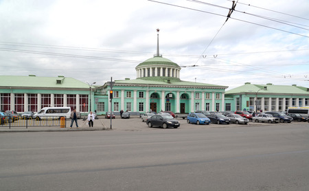 polar station: MURMANSK, RUSSIA - JULY 17, 2015: View of the railway station and Station square Editorial
