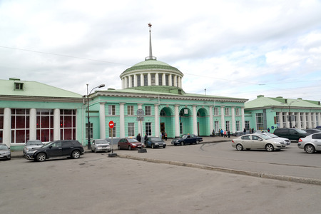 polar station: MURMANSK, RUSSIA - JULY 17, 2015: View of the railway station Editorial