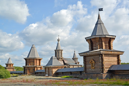 siervo: View of the Sacred and Troitsk Trifonov-Pechengsky mans monastery. Murmansk region