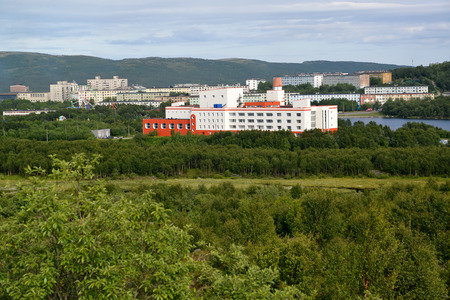 inhabited: View of the inhabited residential district of the city of Murmansk, Russia