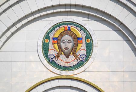 saviour: Mosaic gateway icon of the Cathedral of Christ the Saviour. Kaliningrad