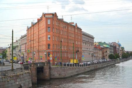 embankment: ST. PETERSBURG, RUSSIA - JULY 23, 2015: Profitable house of V. G. Kudryavtseva (House iron). Fontanka River Embankment