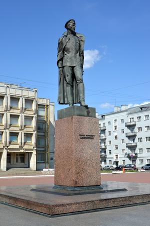 and st petersburg: Monument to F.E. Dzerzhinsky, St. Petersburg Stock Photo