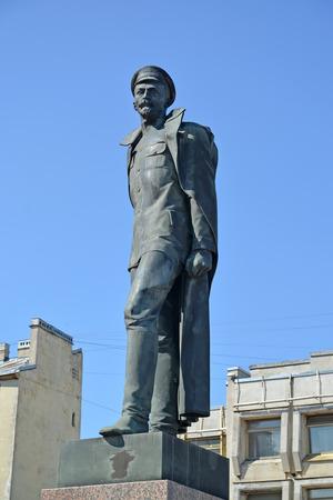st  petersburg: Monument to F.E. Dzerzhinsky against the sky. St. Petersburg