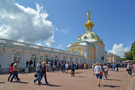 storeroom: PETERHOF, RUSSIA - JULY 24, 2015: A view of the museum Special Storeroom in the Grand Peterhof Palace