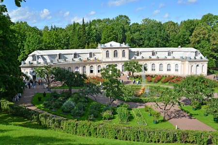 hothouse: PETERHOF, RUSSIA - JULY 24, 2015: View of the Hothouse garden and Big greenhouse. Lower park