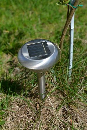 garden lamp: The garden lamp on the solar battery