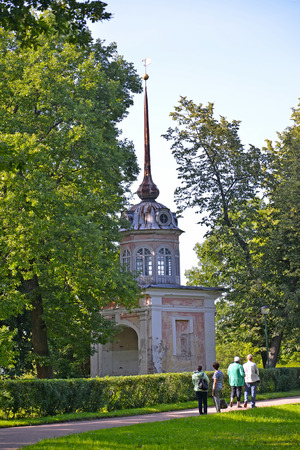poorly: ORANIENBAUM, RUSSIA - JULY 25, 2015: A view of Entrance Honourable gate in summer day