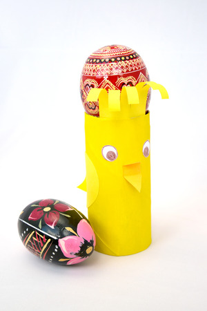 selfmade: Self-made support chicken for a colored Easter egg