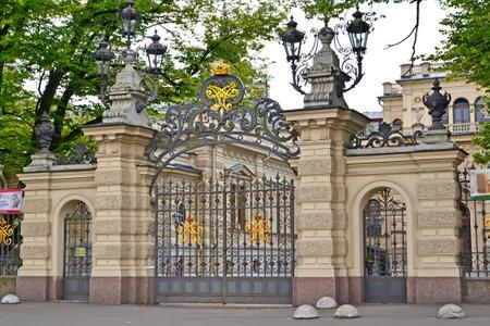 st  petersburg: ST. PETERSBURG, RUSSIA - JULY 09, 2014: Gate entrance in St. Petersburg Houses of music