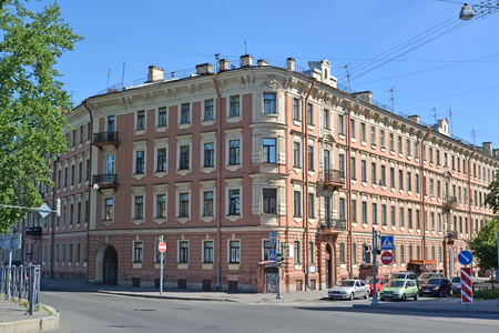eclecticism: ST. PETERSBURG, RUSSIA - JULY 11, 2014: Building of the museum apartment of the poet Alexander Blok Editorial