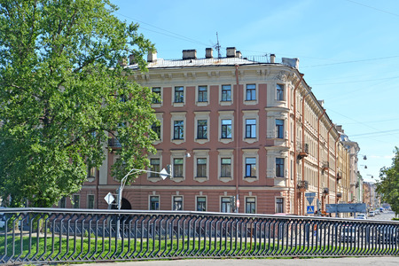 eclecticism: View of the building in which there lived the poet Alexander Blok. St. Petersburg