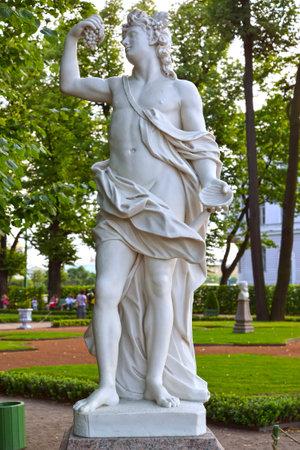 bacchus: ST. PETERSBURG, RUSSIA - JULY 09, 2014: A sculpture Bacchus in the Summer garden