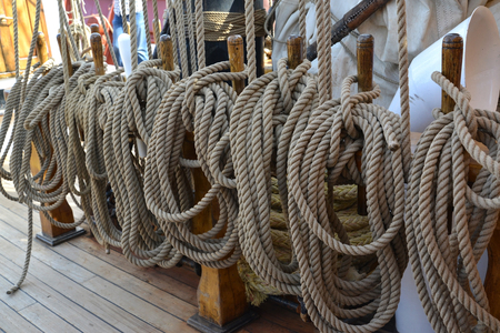 tackles: Ship tackles on the sailing vessel