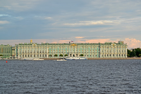 neva: ST. PETERSBURG, RUSSIA - JULY 09, 2014: A view of the Winter Palace from Neva