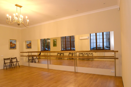 choreographic: The ballet machine in the hall for occupations choreography. Interior