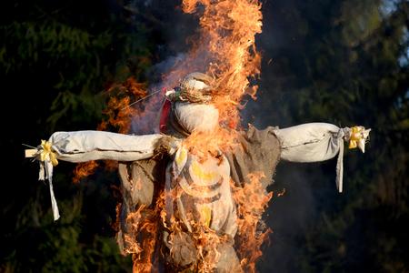 effigy: The burning Maslenitsa effigy