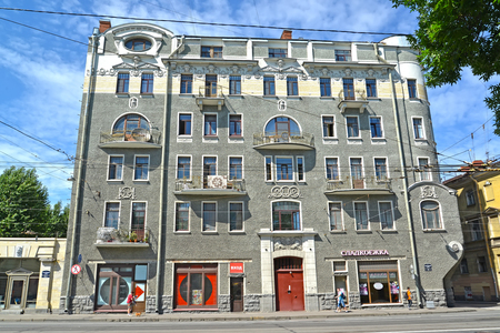 ST. PETERSBURG, RUSLAND - 17 juli 2016: Winstgevende huis van Musinykh-Pushkin