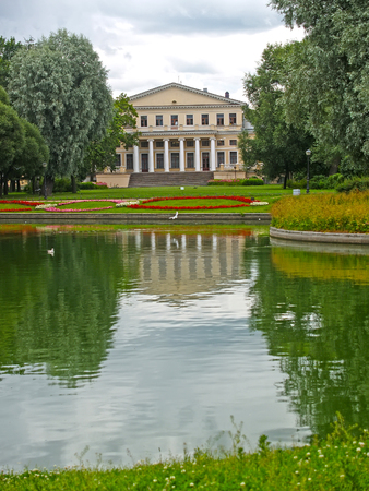 View of a pond and case of University of engineers of means of communication. St. Petersburg
