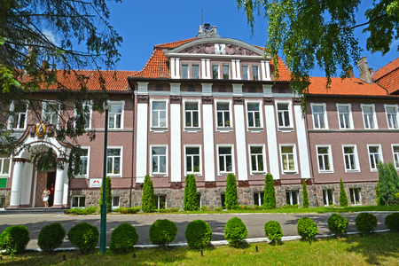 POLESSK, RUSSIA - JULY 01, 2015: View of the building of the Kaliningrad branch of the St. Petersburg state agricultural university Editorial