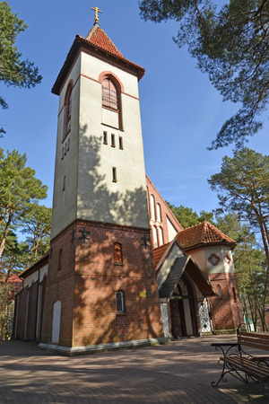 Belfry of the Church of the Holy Monk Seraphim of Sarov (Kirch Rauschen).  Svetlogorsk, Kaliningrad Region