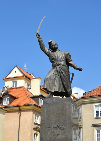 WARSAW, POLAND. Monument to Jan Kilinsky