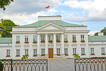 Building of the residence of the president of Poland (Belvedersky palace). Warsaw, Poland