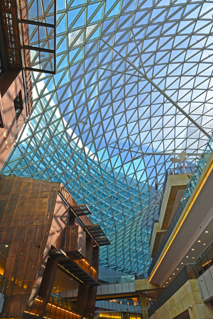 WARSAW, POLAND - AUGUST 28, 2014: Interior of shopping center Gold Terraces Sajtókép