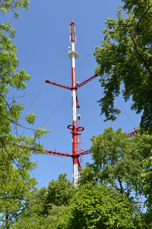 Television tower against the background of the sky. Kaliningrad