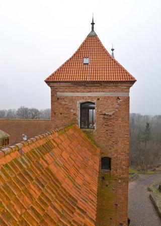 xv century: Reshel lock watchtower. Poland Editorial