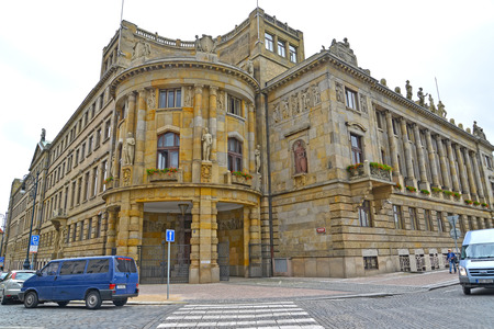 PRAGUE, CZECH REPUBLIC - MAY 28, 2014: Building of the Ministry of Industry and Trade