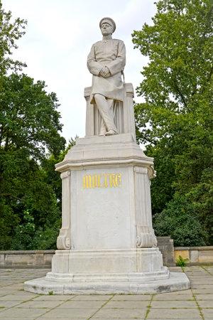 Moltkes monument in the park Big Tirgarten. Berlin, Germany