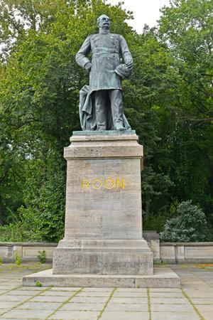 Monument to Roon in the park Big Tirgarten. Berlin, Germany