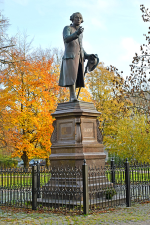 Monument to Immanuel Kant in autumn day. Kaliningrad