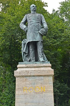 Monument to the general field marshal Roon in the park Big Tirgarten. Berlin, Germany