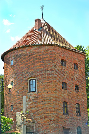 Medieval city tower. Braniewo, Poland Stock Photo