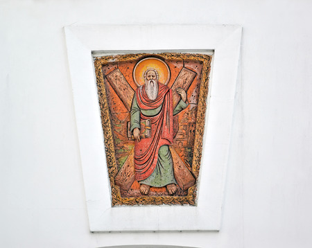 Gateway icon with image of the Saint apostle Andrew the First-Called. Kaliningrad