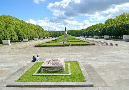 BERLIN, GERMANY - AUGUST 13, 2017: The Soviet military memorial in Treptov-park