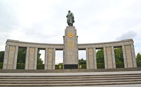BERLIN, GERMANY - AUGUST 12, 2017: Memorial to the fallen Soviet soldiers in Tirgarten Editorial