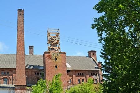 Building of the former brewery Labiau. Polessk, Kaliningrad region Stock Photo