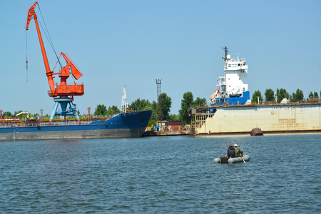 Water area of seaport of the city Svetlyj. Kaliningrad region